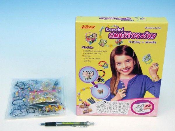 Smršťovačky prstýnky a náramky v krabici SMT Creatoys