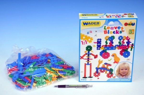 Stavebnice lístky Wader plast 200ks v krabici dětká stavebnice