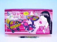 Stavebnice Seva pro dívky midi plast 180ks v krabici 31,5x16,5x7,5cm