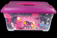 Stavebnice Seva pro holky 1 Jumbo plast 1172ks v plastovém boxu Vista