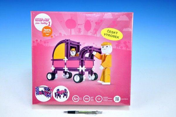 Stavebnice Seva pro holky 1 plast 586ks v krabici 35x33x8cm Vista