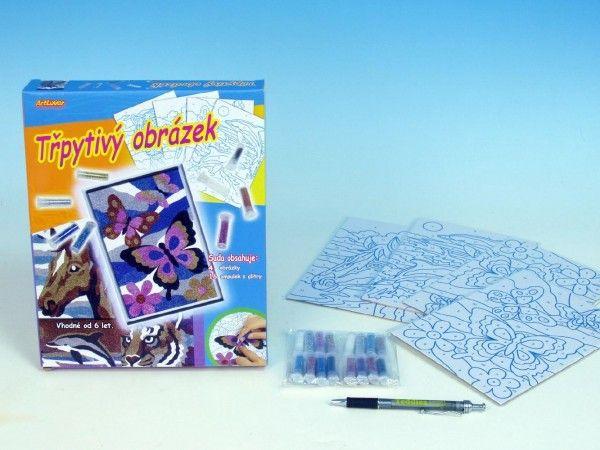 Třpytivý obrázek 4 ks v krabici SMT Creatoys