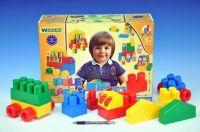 Kostky stavebnice Middle Blocks sada Big plast 75ks v krabici 40x30x15cm od 12 měsíců Wader