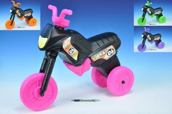 Odrážedlo Enduro Yupee černé velké plast výška sedadla 31cm nosnost do 25kg od 12 měsíců Teddies