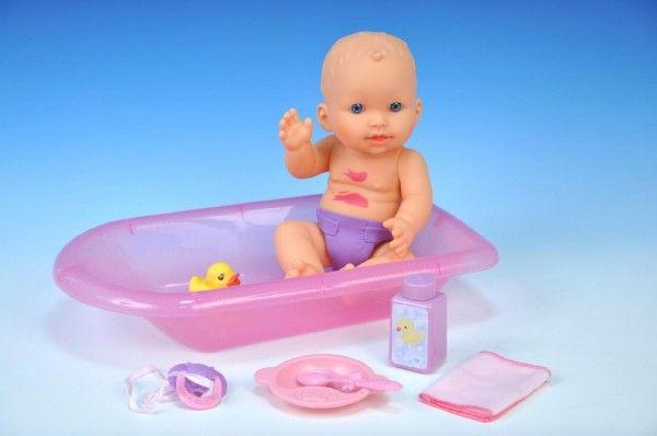 Špinavá panenka miminko s doplňky plast 30cm v krabici koupací panenka Teddies