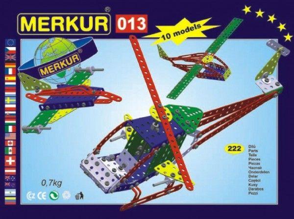 Stavebnice MERKUR 013 Vrtulník 10 modelů 222ks v krabici 26x18x5cm Merkur Toys