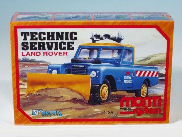 Vista Stavebnice Monti Systém 01 Technik Service Land Rover 1:35 SEVA