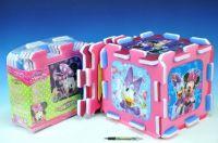 Pěnové puzzle Minnie 32x32x1cm 8ks v sáčku