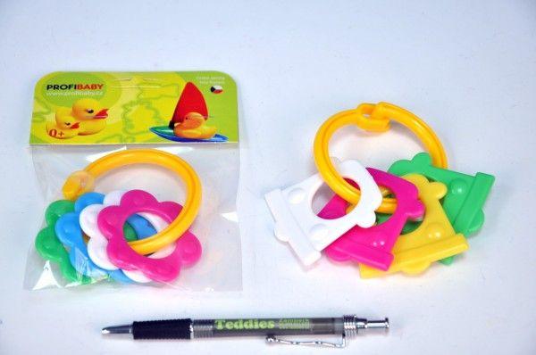 Kousátka tvary plast 10cm v sáčku od 0 měsíců Profibaby