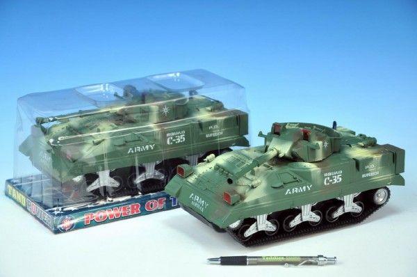 Tank plast 25cm zelený na setrvačník v krabičce Mikro Trading