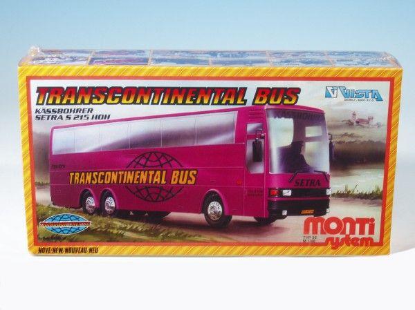 Stavebnice Monti 32 Transcontinental Bus v krabici Beneš a Lát