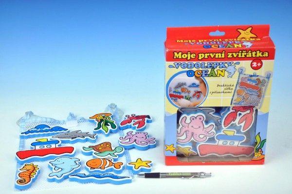 Vodolepky Moje první zvířátka oceán pěnová sada hračka do vany Teddies