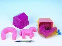 Formičky/Bábovky poník plast 3ks v síťce od 24 měsíců