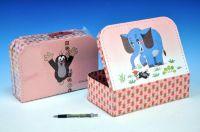 Kufřík/Kufr Krtek a slon šitý 30x21x9,5cm
