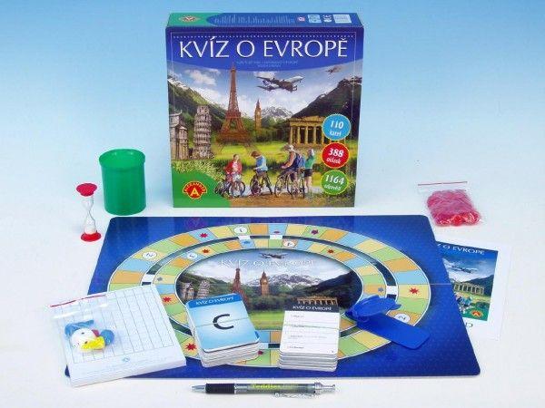 Kvíz o Evropě společenská hra v krabici PEXI