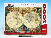 Puzzle Historická mapa 66x47cm 1000 dílků v krabici 37x27x5cm