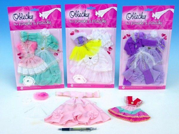 Šaty/Oblečky na panenky asst na kartě