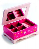Skříňka šperkovnice Princess zrcadlo dřevo pro malé parádnice Teddies