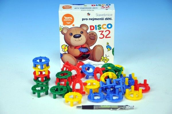 Stavebnice Disco 32ks plast v krabici Vista