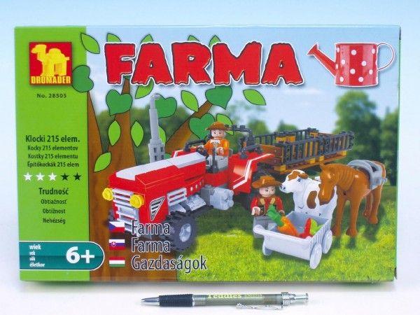 Stavebnice Dromader Farma 28505 215ks v krabici 32x21,5x5cm