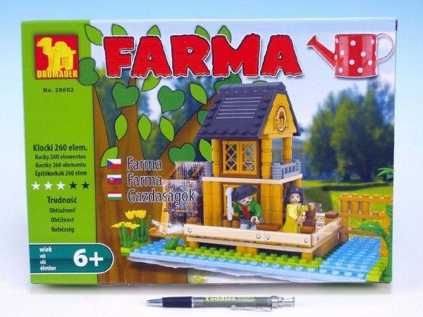 Stavebnice Dromader Farma 28602 260ks v krabici 34,5x25x5,5cm