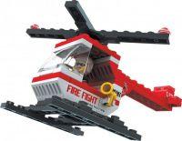 Stavebnice Dromader Hasiči Vrtulník 21301 69ks v krabici 18,5x13x4,5cm