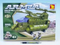 Stavebnice Dromader Vojáci Vrtulník 22602 308ks v krabici 35x25,5x5,5cm