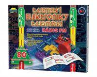 Tajemství elektroniky - Rádio 80 experimentů na baterie v krabici 30x24,5x3,5cm od 6 let Dromader