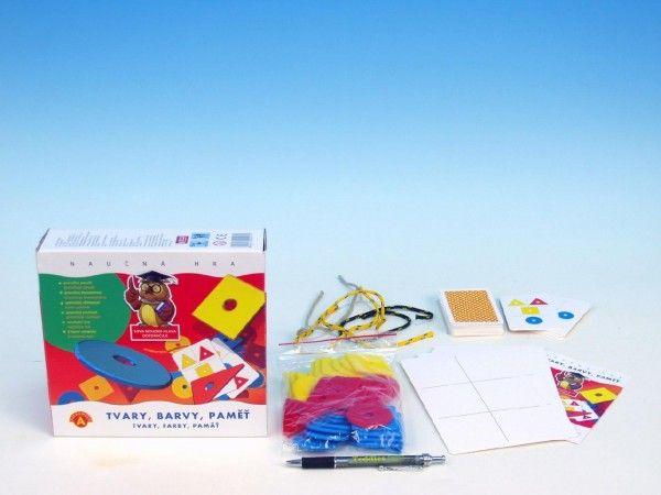 Tvary, barvy, paměť společenská hra naučná v krabici PEXI