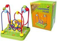 Labyrint dřevěný mašinka