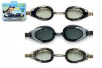 Plavecké brýle asst 3 druhy na kartě 14+