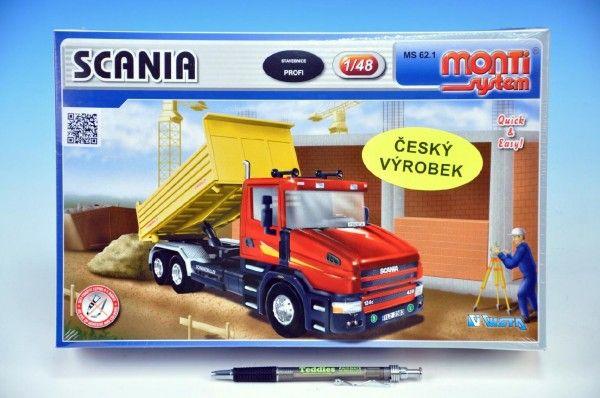 Stavebnice Monti 62.1 Scania 1:48 v krabici 32x20,5x7,5cm SEVA