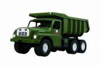 Auto Tatra 148 plast 73cm v krabici - khaki vojenská Dino
