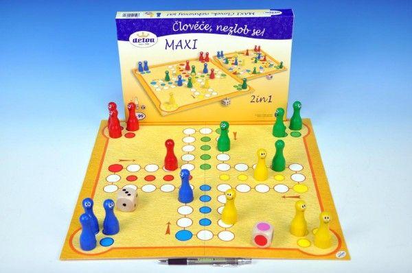 Člověče, nezlob se maxi 2v1 společenská hra v krabici 33,5x23x3,5cm Detoa