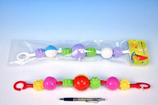 Zábrana na kočárek koule/kytičky plast 41cm Profibaby
