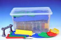 Kid Cars mosty a silnice 14,2m v plastovém boxu od 12 měsíců Wader