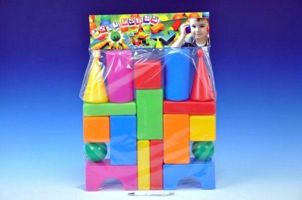 Kostky velké 18ks plast v sáčku Teddies