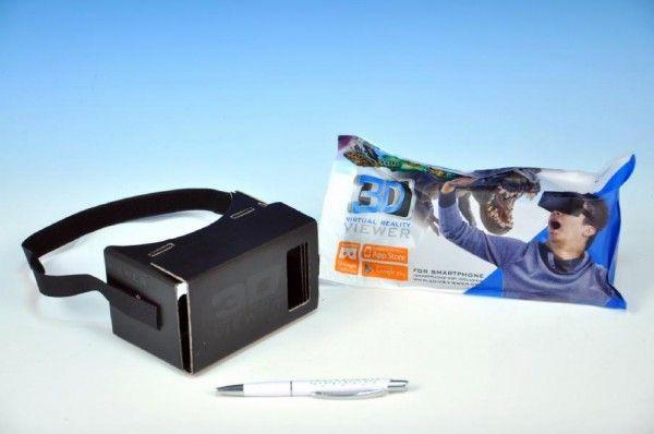Prohlížečka 3D pro Smartphony papírová 13cm v sáčku Teddies