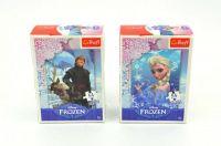 Minipuzzle Ledové království Disney 13x20cm 54 dílků asst 4 druhy v krabičce 40ks v boxu Trefl