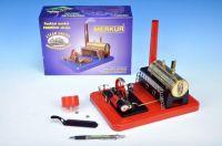 Stavebnice MERKUR funkční model parního stroje Standart v krabici