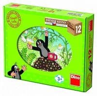 Kostky kubus Krtek a přátelé dřevo 12ks v krabičce 22x17x4cm Dino