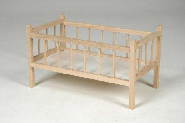 Postýlka dřevo 54x34x29cm v sáčku dřevěná postýlka pro panenky