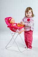 Židlička pro panenky vysoká kov/plast 33x26x60cm v sáčku Teddies