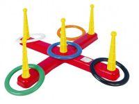 Házecí hra kříž s kruhy plast 5ks v síťce Teddies