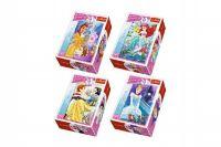 Minipuzzle Princess/Disney 54dílků asst 4 druhy v krabičce 40ks v boxu
