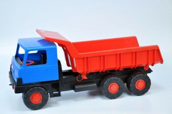 Auto Tatra 815 korba červená kabina modrá plast 75cm Teddies
