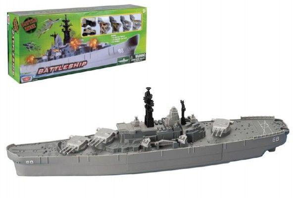 Bitevní loď plast cca 70cm s doplňky v krabici Teddies