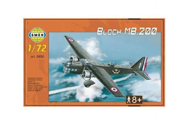 Model Bloch MB.200 31,2x22,3cm v krabici 35x22x5cm Směr