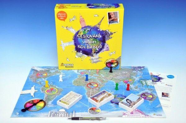 Cestování s Jiřím Kolbabou společenská hra v krabici 29,5x29,5x8cm Bonaparte