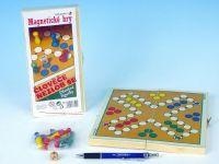 Člověče nezlob se magnetické dřevo společenská hra
